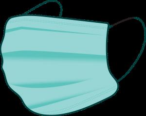 Mundschutz tragen während der Pandemie